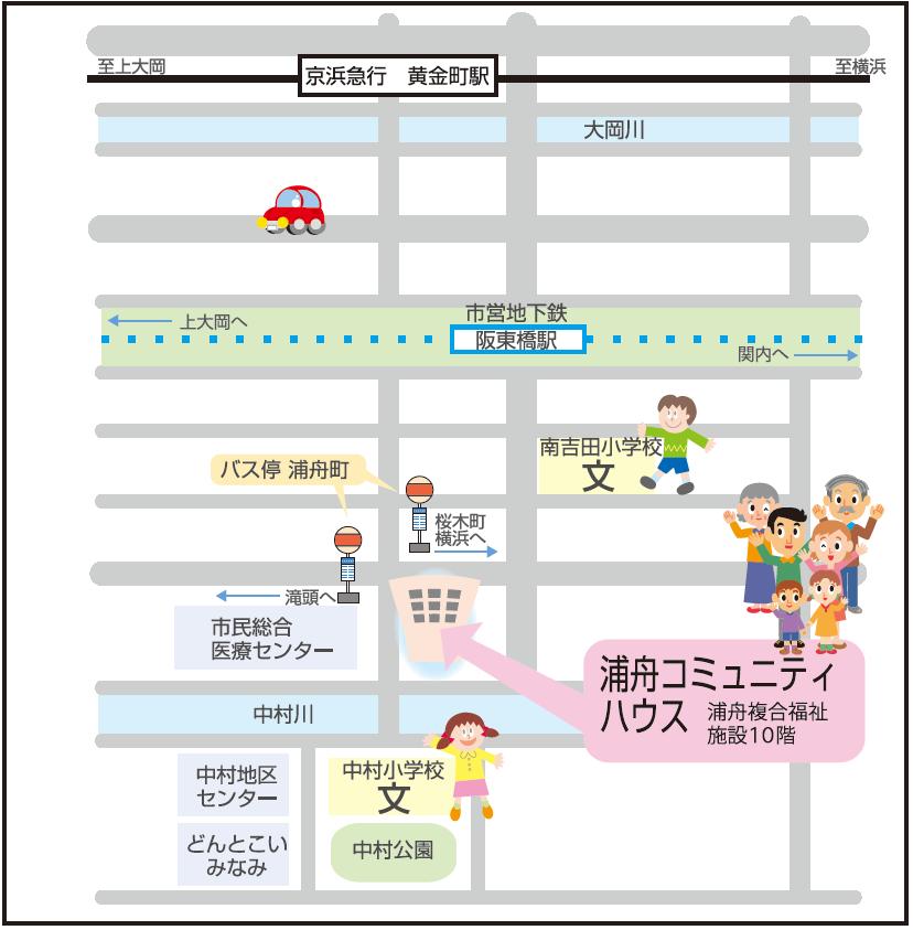浦舟周辺地図